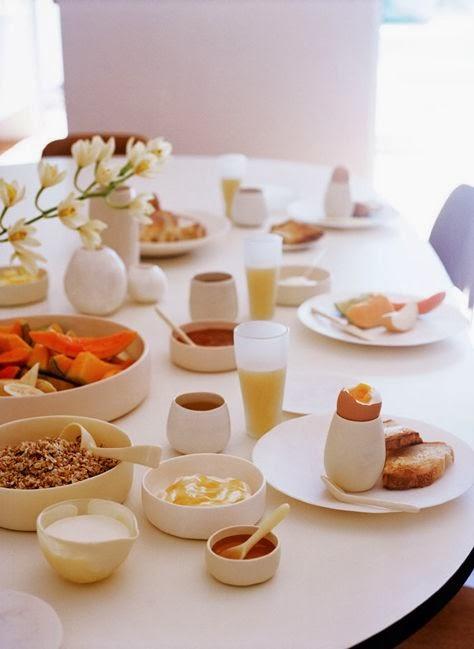 Mesas de desayuno la merienda a las 5 for Mesa desayuno