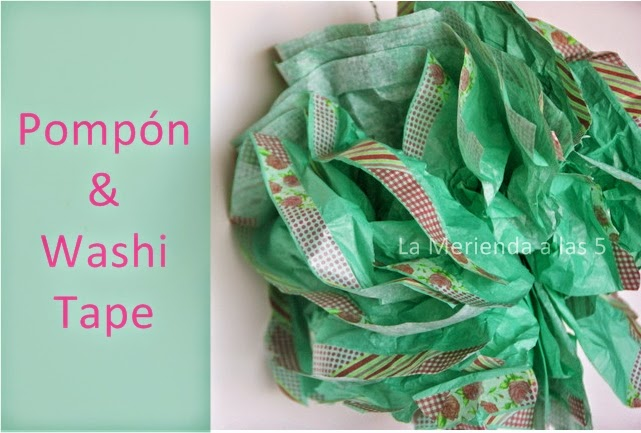 pompon & washi tape by La Merienda a las 5