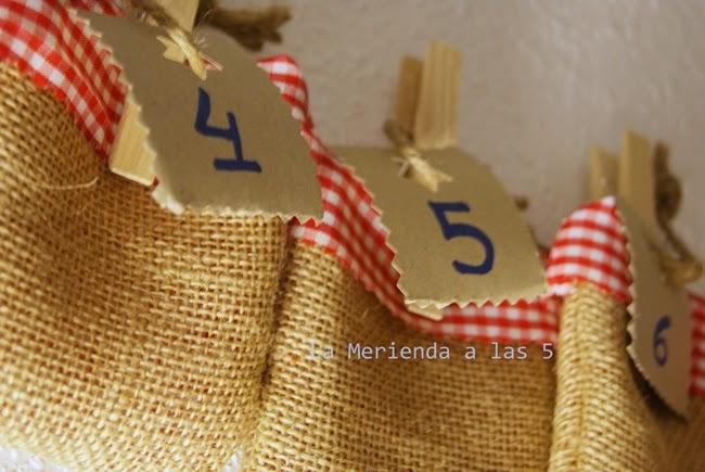 Diy Calendario De Adviento Con Mensaje La Merienda A Las 5